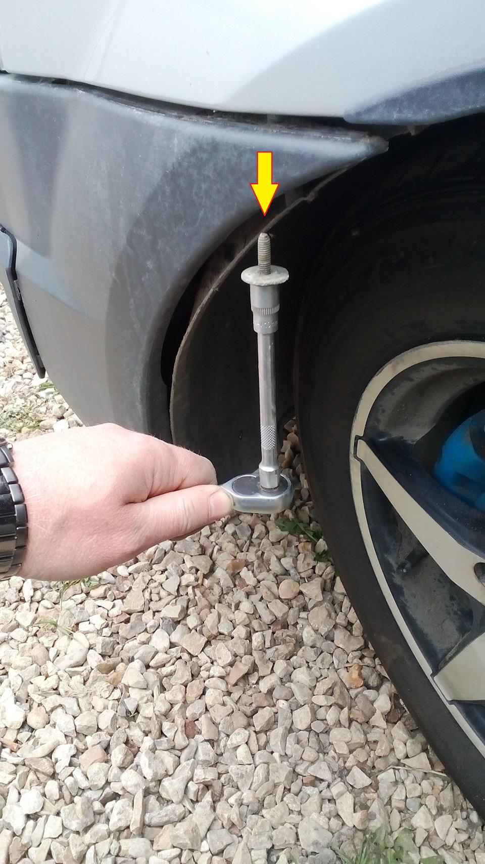 Как снять передний бампер на Лада Ларгус
