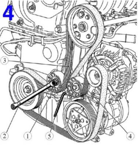 Схемы установки ремня генератора Лада Ларгус
