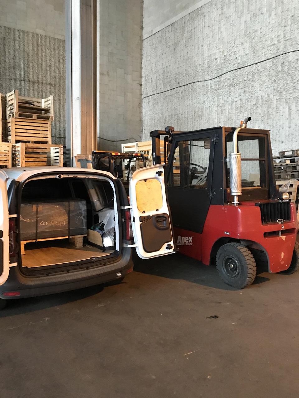 Что входит в багажник Лада Ларгус фургон?