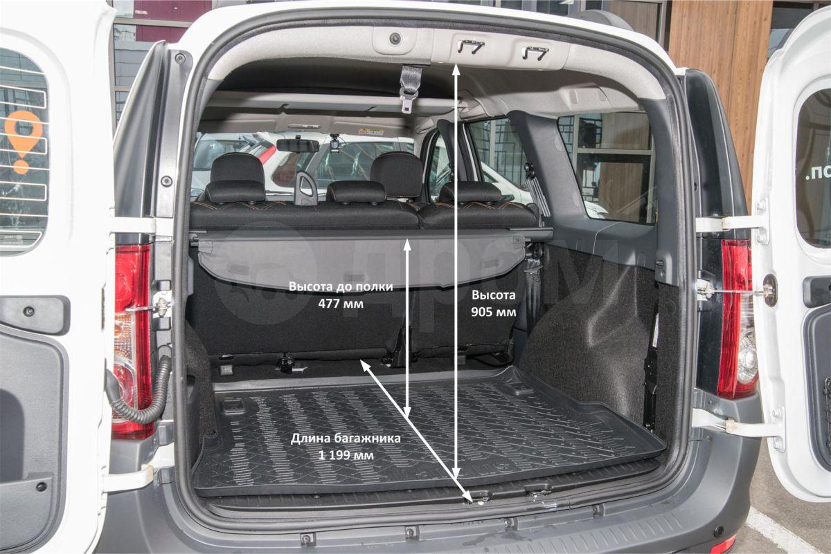 Размеры багажника Лады Ларгус универсал и Кросс