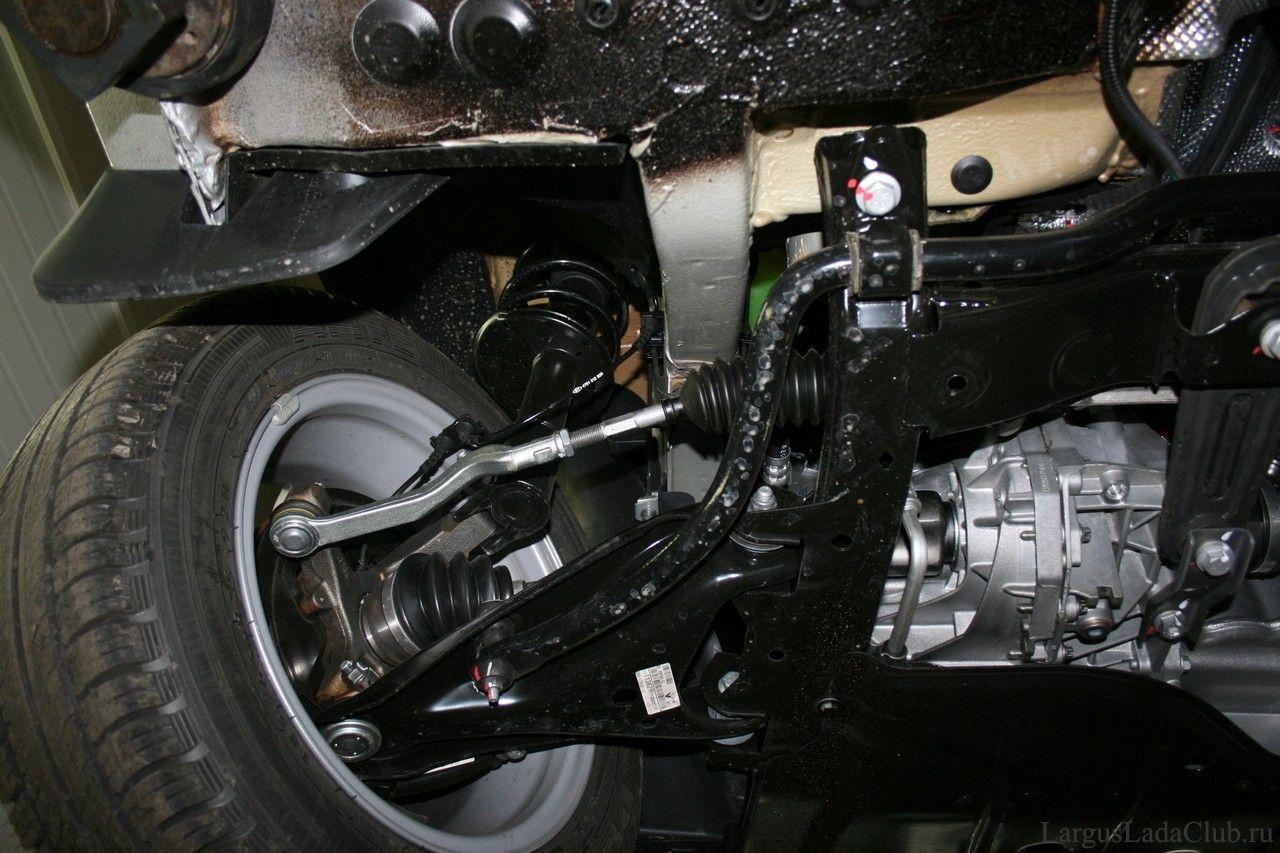 Устройство передней подвески Лада Ларгус