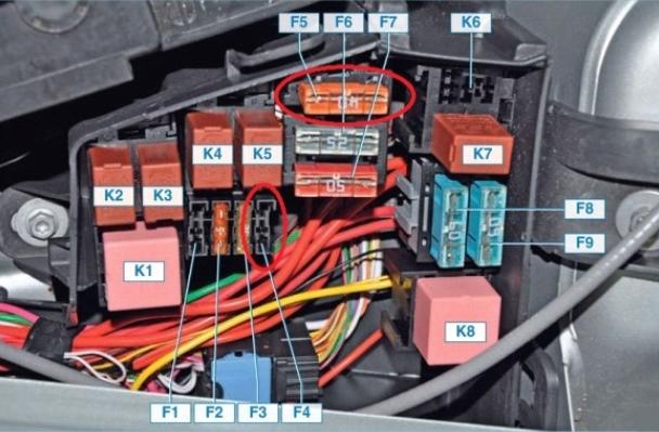 Предохранитель вентилятора охлаждения двигателя Лада Ларгус