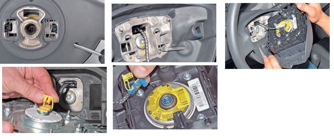 Лада Ларгус подушка безопасности водителя - снятие и установка